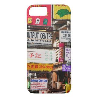 Coque iPhone 8/7 Enseignes au néon dans les rues de Hong Kong