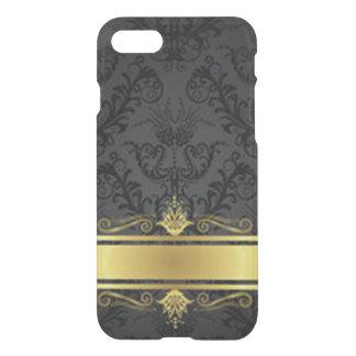 Coque iPhone 8/7 Équilibre noir de damassé et d'or