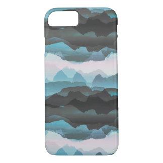 Coque iPhone 8/7 Faded a stylisé les montagnes bleues