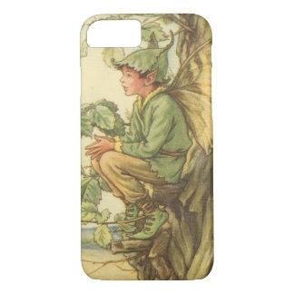 Coque iPhone 8/7 Fée à ailes d'orme s'asseyant dans un arbre