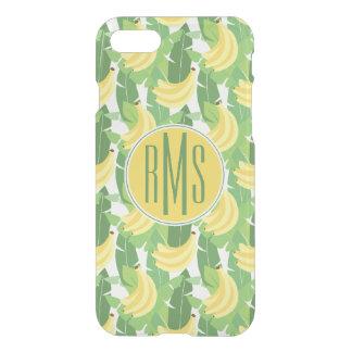 Coque iPhone 8/7 Feuille de banane et monogramme du motif | de