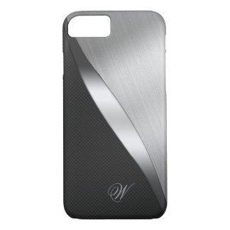 Coque iPhone 8/7 Fibre de carbone et métal balayé