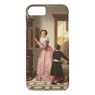 Coque iPhone 8/7 Figures dans un Laundryroom, 1864 (huile sur la
