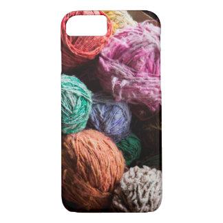 Coque iPhone 8/7 Fil de laine de Chiloe teint avec les colorants