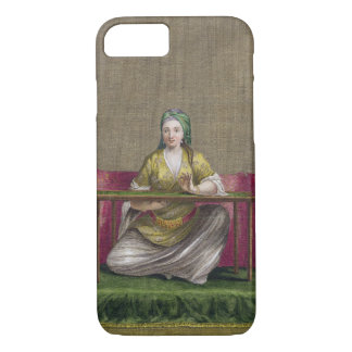 Coque iPhone 8/7 Fille turque, brodant, XVIIIème siècle (engravin