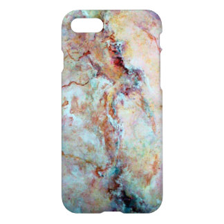 Coque iPhone 8/7 Finition rose de pierre de marbre d'arc-en-ciel