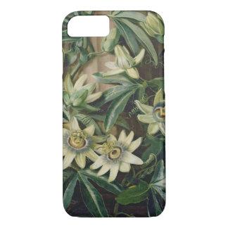 """Coque iPhone 8/7 Fleur bleue de passion pour le """"temple de Flora"""""""