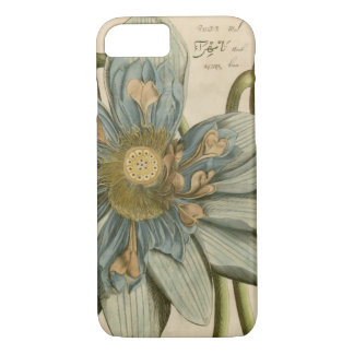 Coque iPhone 8/7 Fleur de Lotus bleu sur l'arrière - plan bronzage