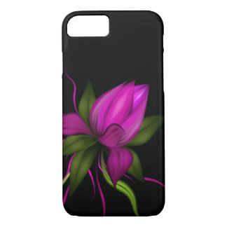 Coque iPhone 8/7 Fleur de vecteur sur le noir
