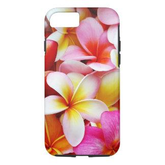 Coque iPhone 8/7 Fleur d'Hawaï de Frangipani de Plumeria customisée