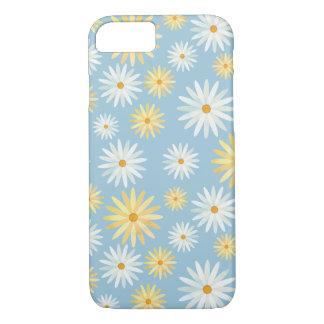 Coque iPhone 8/7 Fleur jaune de naissance d'avril de marguerites