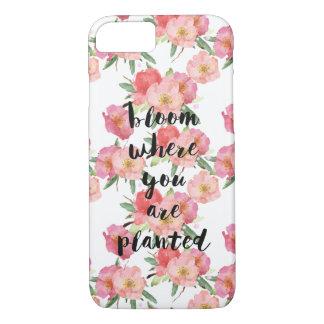 Coque iPhone 8/7 Fleur où vous êtes aquarelle plantée florale