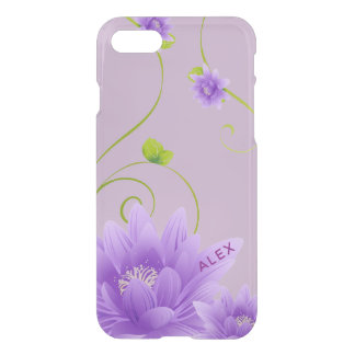 Coque iPhone 8/7 Fleur pourpre à la mode