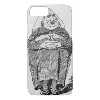 Coque iPhone 8/7 Franz Liszt (1811-86) comme abbé, caricature de 'B