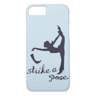 Coque iPhone 8/7 Frappez un yoga de ~ de pose et un créatif inspiré