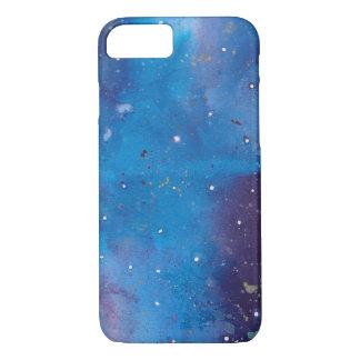 Coque iPhone 8/7 Galaxie bleu-foncé