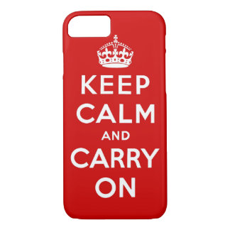 Coque iPhone 8/7 gardez le calme et continuez l'original