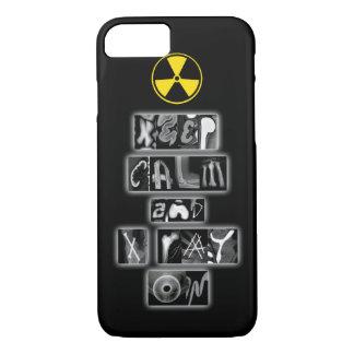 Coque iPhone 8/7 Gardez le calme et le rayon X sur le cas de