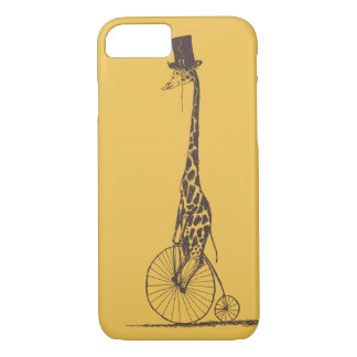 Coque iPhone 8/7 Girafe sur une bicyclette