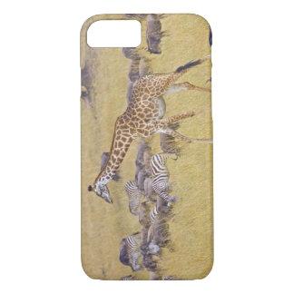 Coque iPhone 8/7 Girafes de Maasai errant à travers le Maasai Mara