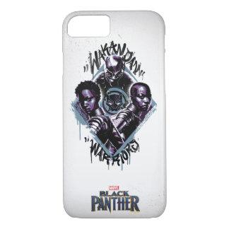 Coque iPhone 8/7 Graffiti de guerriers de la panthère noire |