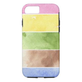 Coque iPhone 8/7 grand arrière - plan d'aquarelle - peintures