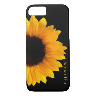 Coque iPhone 8/7 Grande caisse jaune de l'iphone 7 de tournesol