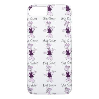 Coque iPhone 8/7 Grande soeur de girafe adorable