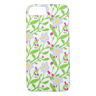 Coque iPhone 8/7 Grandes fleurs et baies