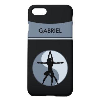 Coque iPhone 8/7 Gris Zazzle de symbole d'équilibre de yoga