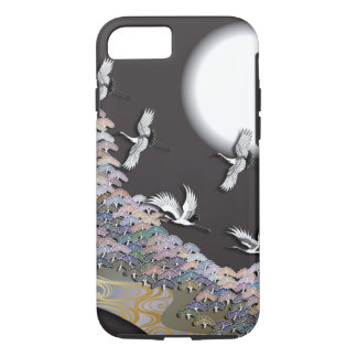Coque iPhone 8/7 Grues, lune et pins