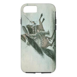 Coque iPhone 8/7 Guerrier de la tribu de corneille (la semaine sur