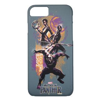 Coque iPhone 8/7 Guerriers de la panthère noire | Wakandan peints