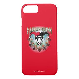 Coque iPhone 8/7 Harley Quinn - visage et logo