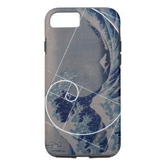 Coque iPhone 8/7 Hokusai rencontre Fibonacci, rapport d'or