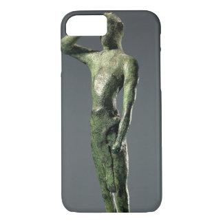 Coque iPhone 8/7 Homme à la prière, sculpture en bronze grecque