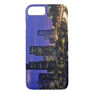 Coque iPhone 8/7 Horizon de Seattle, Washington la nuit