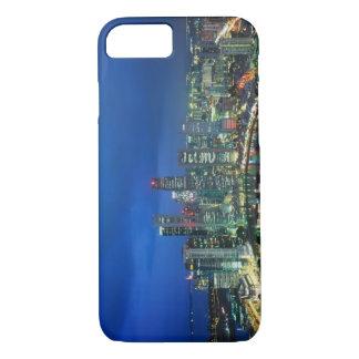 Coque iPhone 8/7 Horizon de Singapour la nuit, Singapour