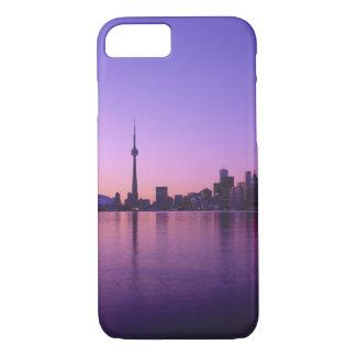 Coque iPhone 8/7 Horizon de Toronto la nuit, Ontario, Canada