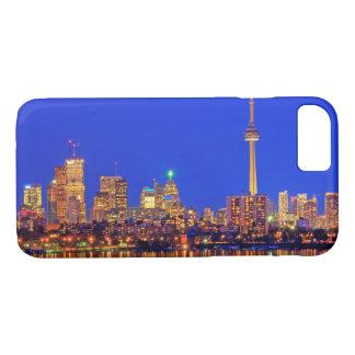 Coque iPhone 8/7 Horizon du centre de Toronto la nuit