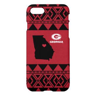 Coque iPhone 8/7 I motif tribal de l'état   de la Géorgie de coeur