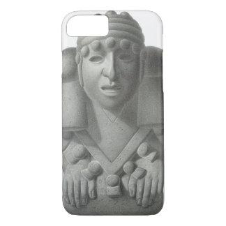 Coque iPhone 8/7 Idole en pierre de Dieu Cocijo, plat de pluie de