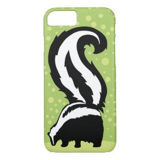 Coque iPhone 8/7 Illustration audacieuse de mouffette avec les