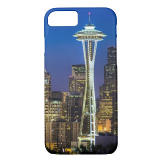 Coque iPhone 8/7 Image d'horizon de Seattle en quelques heures de