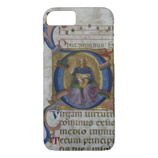 "Coque iPhone 8/7 Initiale ""D"" de Mme 531 f.169v Historiated"