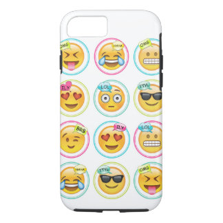Coque iPhone 8/7 iPhone 7, cas dur d'Emoji