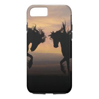 Coque iPhone 8/7 iPhone 7, dur - chevaux jumeaux