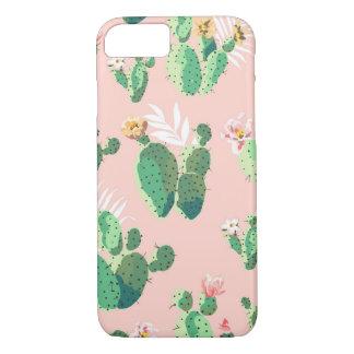 Coque iPhone 8/7 iPhone 8/7 caisse succulente de cactus rose