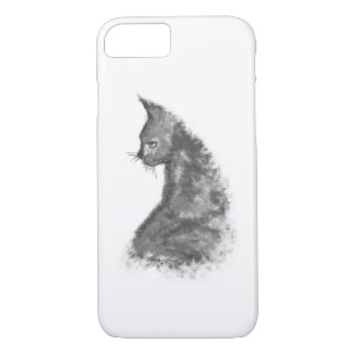 Coque iPhone 8/7 iPhone 8/7 d'Apple de chat peint par aquarelle