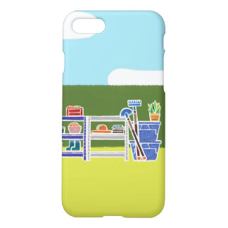 Coque iPhone 8/7 iPhone mignon 7, cas de peinture de jardin de